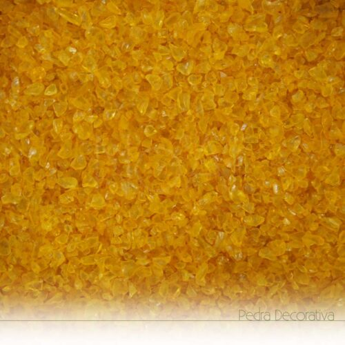 vidro decorativo amarelo torrado