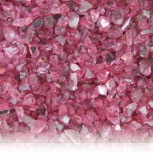 vidro decorativo rosa escuro