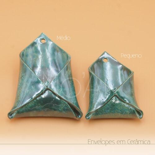 Envelope em Cerâmica - Verde Claro