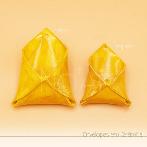 Envelope em Cerâmica - Amarelo Vibrante