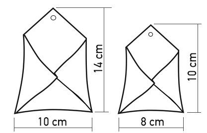 Envelope de Ceramica - Tamanho