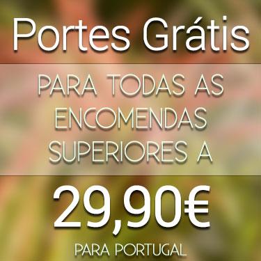 Portes Gratis para encomendas acima de 29.90 para Portugal